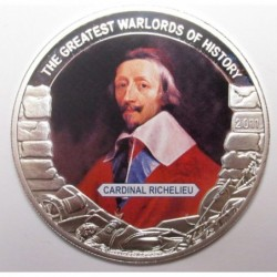 5 dollars 2011 PP - The greatest warlords of history - Cardinal Richelieu