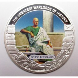 5 dollars 2011 PP - The greatest warlords of history - Scipio Africanus