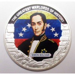 5 dollars 2011 PP - The greatest warlords of history - Simon Bolivar