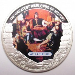 5 dollars 2009 PP - The greatest warlords of history - Attila the Hun