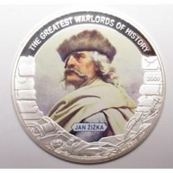 5 dollars 2009 PP - The greatest warlords of history - Jan Zizka