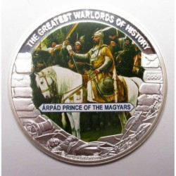 5 dollars 2009 PP - The greatest warlords of history - Árpád Prince of the Magyars