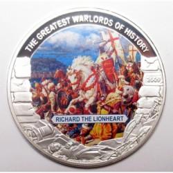 5 dollars 2009 PP - A történelem legnagyobb hadvezérei - Oroszlánszívű Richárd