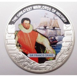 5 dollars 2009 PP - The greatest warlords of history - Sir Francis Drake