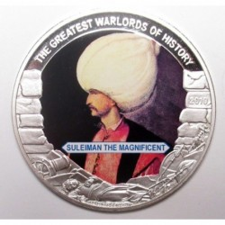 5 dollars 2010 PP - The greatest warlords of history - Suleiman the Magnificent