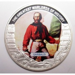 5 dollars 2010 PP - The greatest warlords of history - Garibaldi