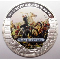 5 dollars 2010 PP - The greatest warlords of history - William the Conqueror