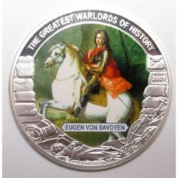5 dollars 2009 PP - A történelem legnagyobb hadvezérei - Savoyai Jenő