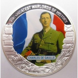 5 dollars 2009 PP - The greatest warlords of history - Charles de Gaulle