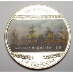 10 dollars 2004 PP - Moments of freedom - Destruction of the Spanish fleet - 1588