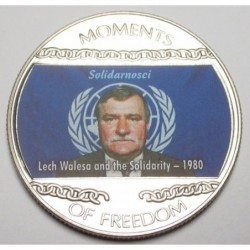 10 dollars 2004 PP - Moments of freedom - Lech Walesa and the Solidarity - 1980