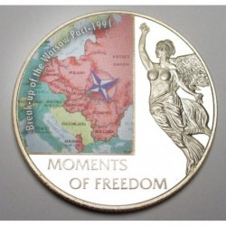 10 dollars 2006 PP - Moments of freedom - Break-up of the Warsaw Pact - 1991
