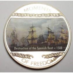 10 dollars 2004 PP - Moments of freedom - Destruction of the Spanish fleet - 1588