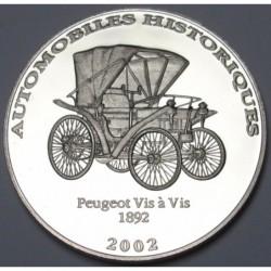 10 francs 2002 PP - Peugeot Vis á Vis 1892