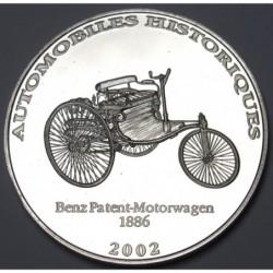 10 francs 2002 PP - Benz Patent-Motorwagen 1886