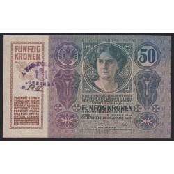 50 korona 1919 - Belgrád felülbélyegzéssel