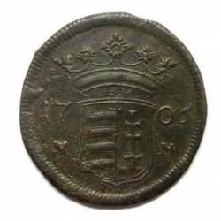 II. Ferenc Rákóczi X poltura 1706 MM- Munkács - Big M