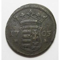 II. Ferenc Rákóczi X poltura 1705 NB - Nagybánya