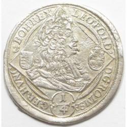 Leopold I. 1/4 thaler 1695 KB