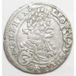 Leopold I. 3 kreuzer 1696 CH - Bratislava