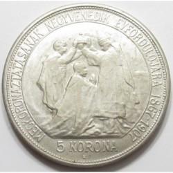 5 korona 1907 - For the 40th anniversary of the Coronation - FERT