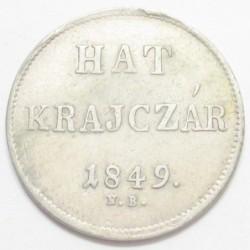 6 krajcár 1849 NB