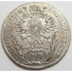 Maria Theresia 20 kreuzer 1778 EVS. I.K.- Prague