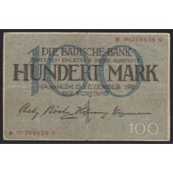 100 mark 1918 - Mannheim