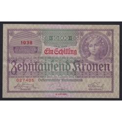 1 schilling/10000 kronen 1924