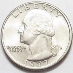 quarter dollar 1977 D