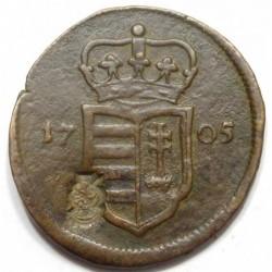 II. Rákóczi Ferenc XX poltura 1705 - countermark