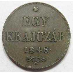 1 kreuzer 1848