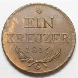 Franc II. 1 kreuzer 1816 G
