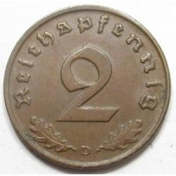 2 reichspfennig 1937 D