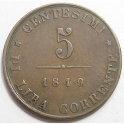 5 centesimi 1849 - Venice