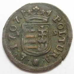 II. Rákóczi Ferenc 1 poltura 1707 KB