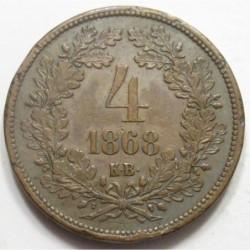 4 kreuzer 1868 KB