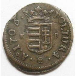 II. Rákóczi Ferenc 1 poltura 1706 KB