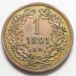 1 kreuzer 1891 KB