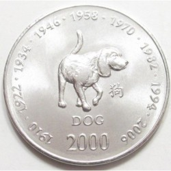 10 shillings 2000 - Asian horoscopes - Dog