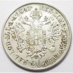 Ferdinand I.. 20 kreuzer 1841 A