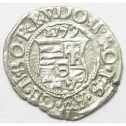 Rudolf I dénár 1579 KB