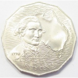 50 cents 1970 - 200th Anniversary of Cook's Australian Voyage