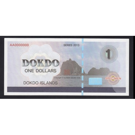 1 dollar 2013 - Dokdo Islands - SPECIMEN