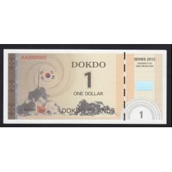 1 dollar 2012 - Dokdo Islands - SPECIMEN