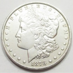 Morgan dollar 1878 - 7 Tail Feathers - Reverse of 1879