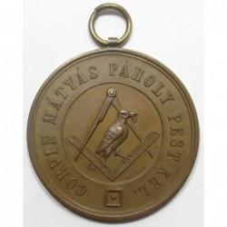 Mátyás Corvin Freemason medal 1869