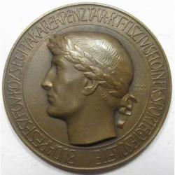 Erdey Dezsõ: Budapest Székesfõváros Községi Takarékpénztár Tisztviselõinek Officials Sports Association award medal 1939
