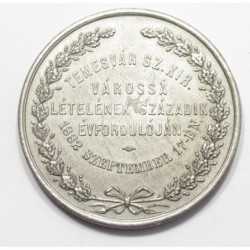 Memorial coin for the 100th anniversary of the city rank of Timisoara in 1882