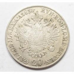 Francis II. 20 kreuzer 1831 A